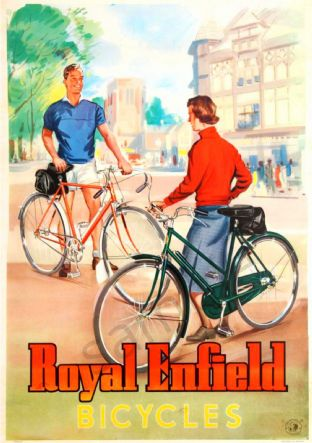 Royal Enfield Bicycles Sign